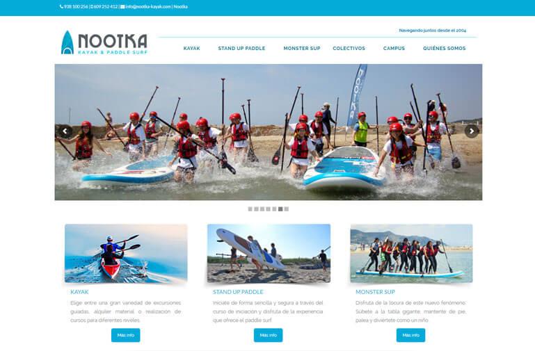 Diseño página web para Nootka