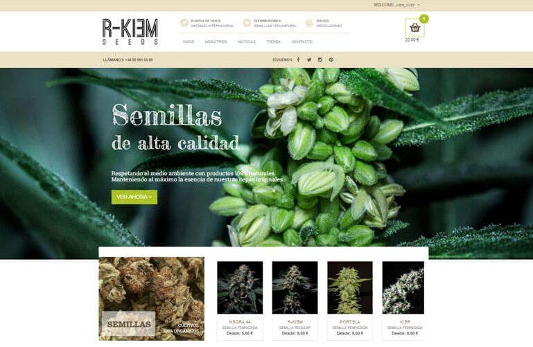 Diseño página web y tienda online para R-Kiem seeds