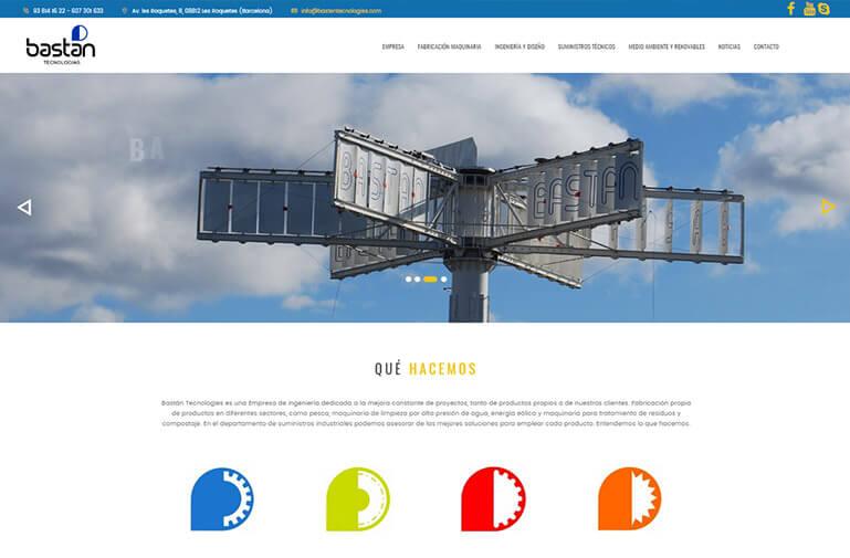 Diseño catálogo online para Bastan tecnologías