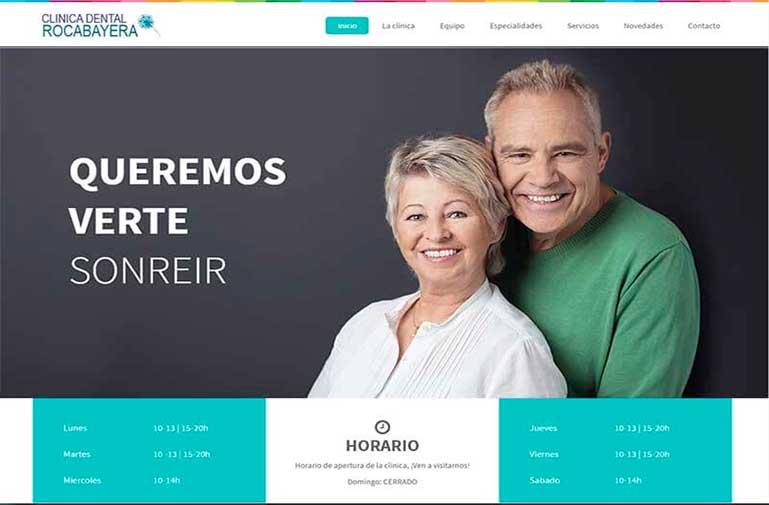 Diseño página web para Clínica Dental Rocabayera