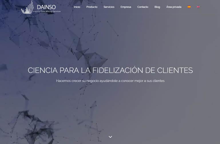 Diseño página web para Dainso