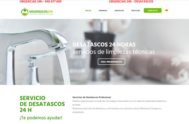 Diseño página web para Desatascos 24h