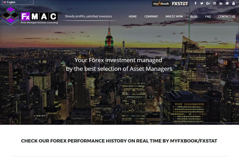 Diseño página web Forex Managed Account Consulting