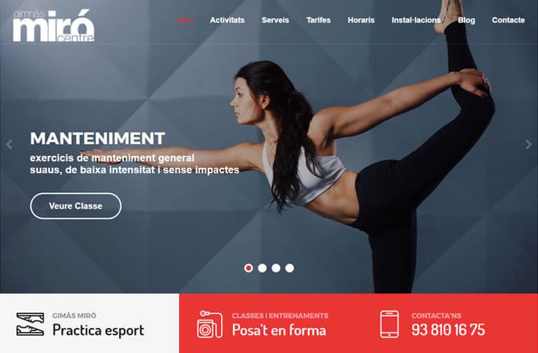Diseño página web para Gimnà Miró