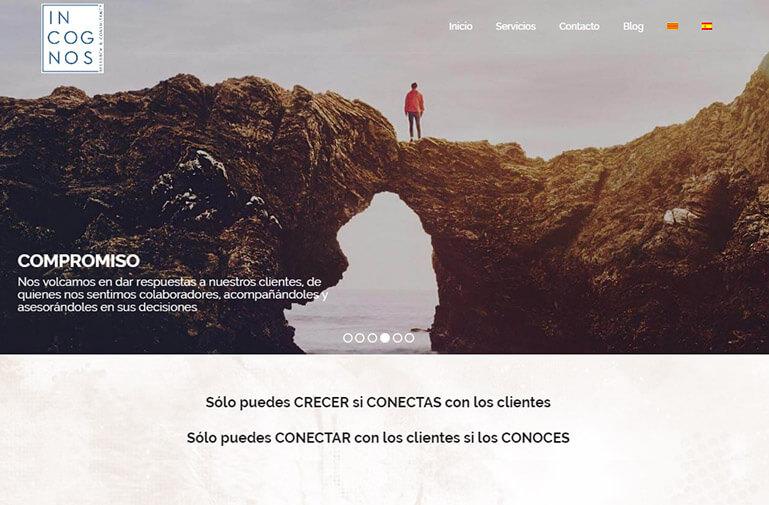Diseño página web para Incognos