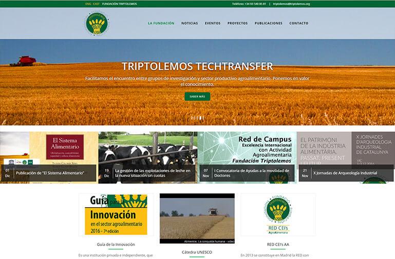 Diseño página web Fundación triptolemos