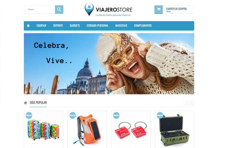 Diseño tienda online ViajeroStore