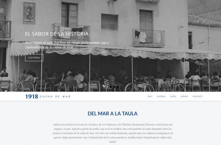 Disseny pàgina web per Restaurant 1918