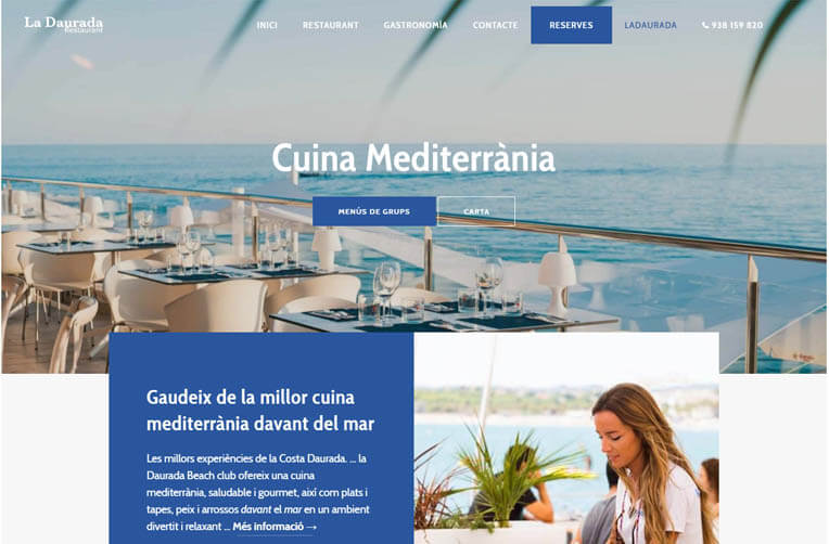 Disseny pàgina web Restaurant La Daurada