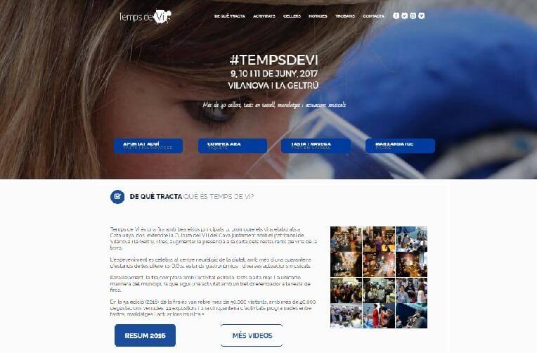 Disseny pàgina web per Temps de vi