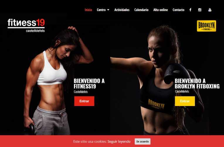 Diseño página web para Fitness19