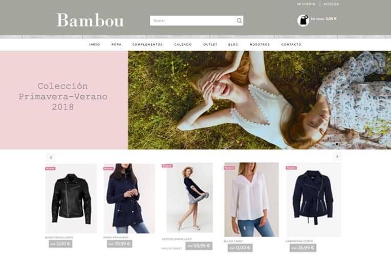 Diseño tienda online Bambou