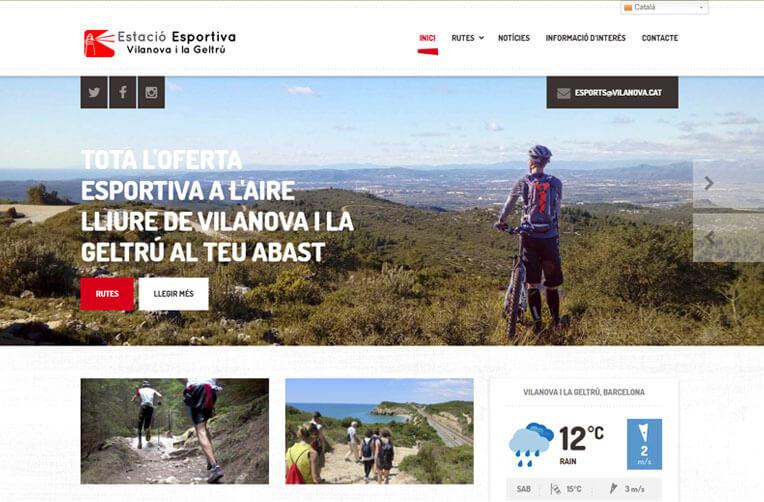 Disseny pàgina web Estacio Esportiva