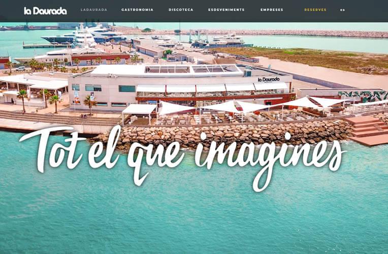 Diseño página web La Daurada Beach Club