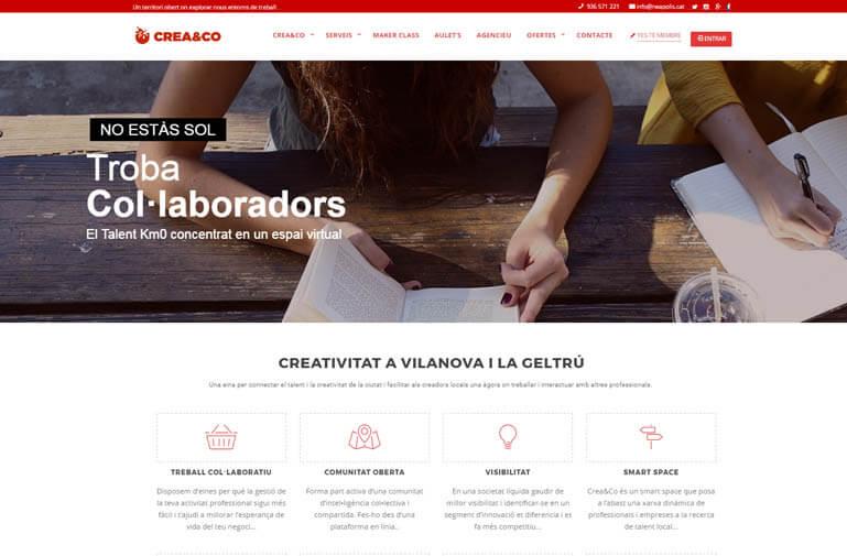 Disseny pàgina web per Crea & Co