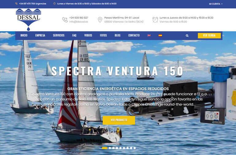Diseño Página web para Dessal