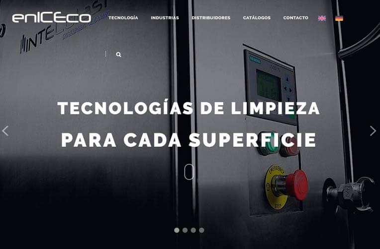 Disseny pàgina web per Eniceco