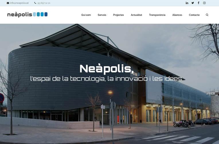 Disseny pàgina web per Neapolis